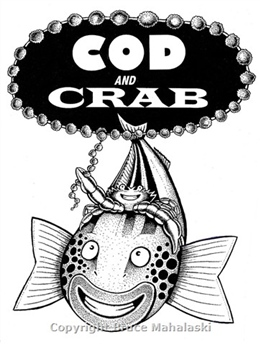 Cod and crab