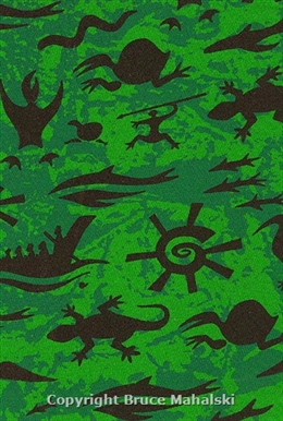 Green Rock Art Print