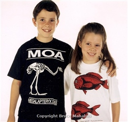 Moa and Orange-roughy t-shirts